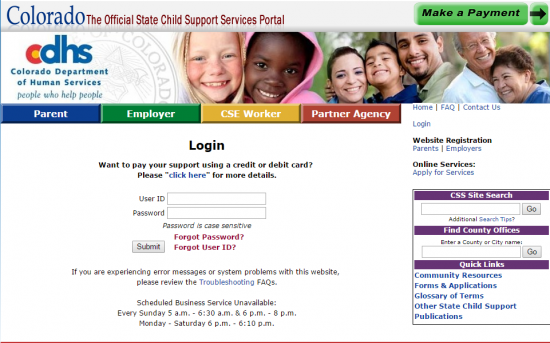 Colorado Child Support Login | Make a Payment | Child
