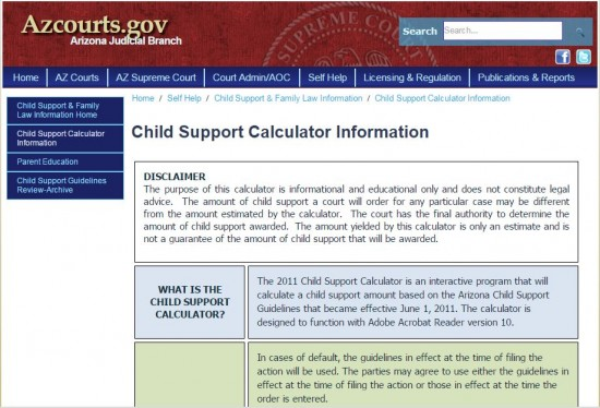 Worksheets Child Support Worksheet Az arizona child support calculator guidelines com step 2 choose either the 2015 or 2011 depending on date relevant order modificatio