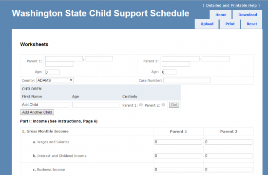 wa state child support worksheet Termolak – Washington Child Support Worksheet