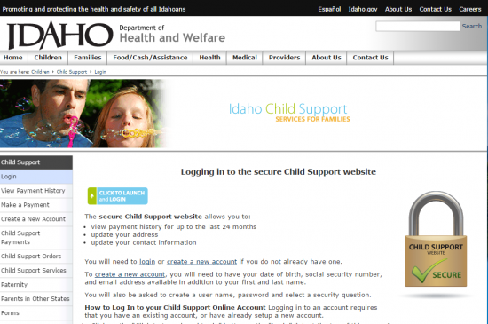 idaho login