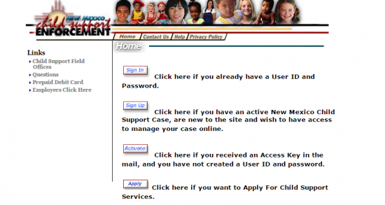 New Mexico Child Support Login Make A
