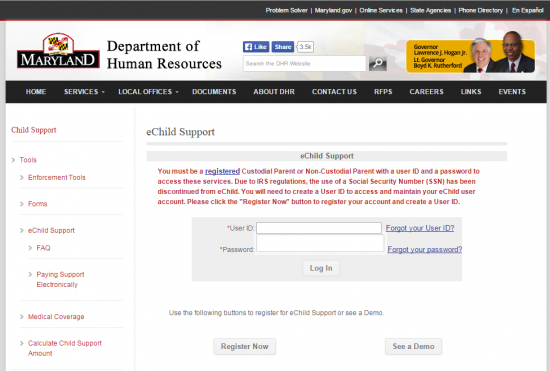 Maryland Child Support Login | Make a Payment | Child-Support com