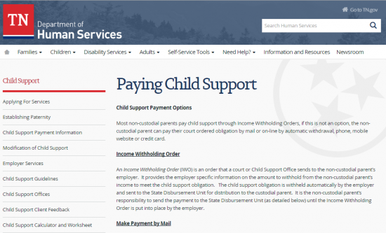 Child Support Worksheet Tennessee - Synhoff