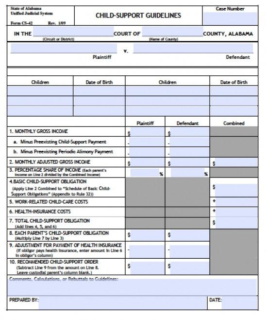 Alabama Child Support Calculator Guidelines Child Support Com